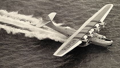 """The China Clipper """"scudded along a considerable sea swell"""" before vaulting into the air, reported Leo Kieran."""