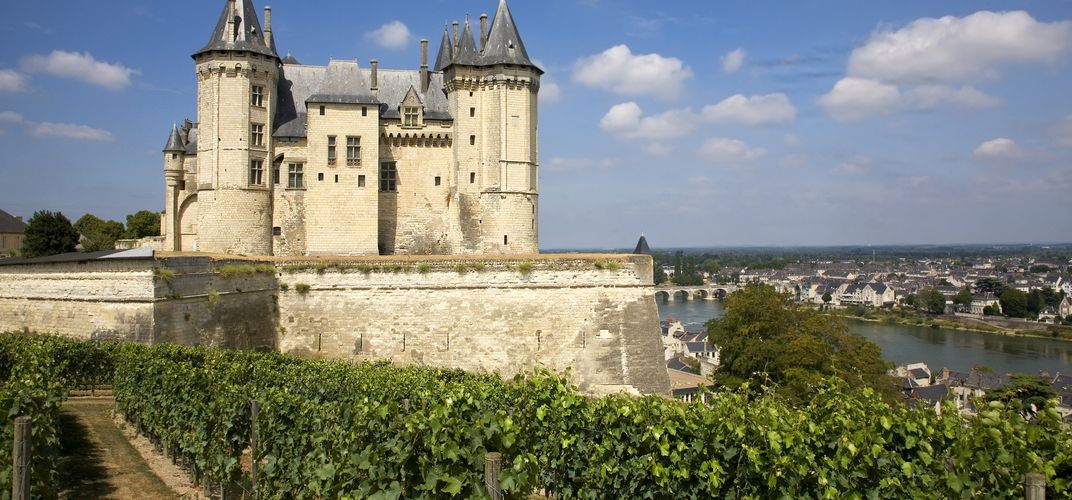The castle and town of Saumur in the Loire Valley