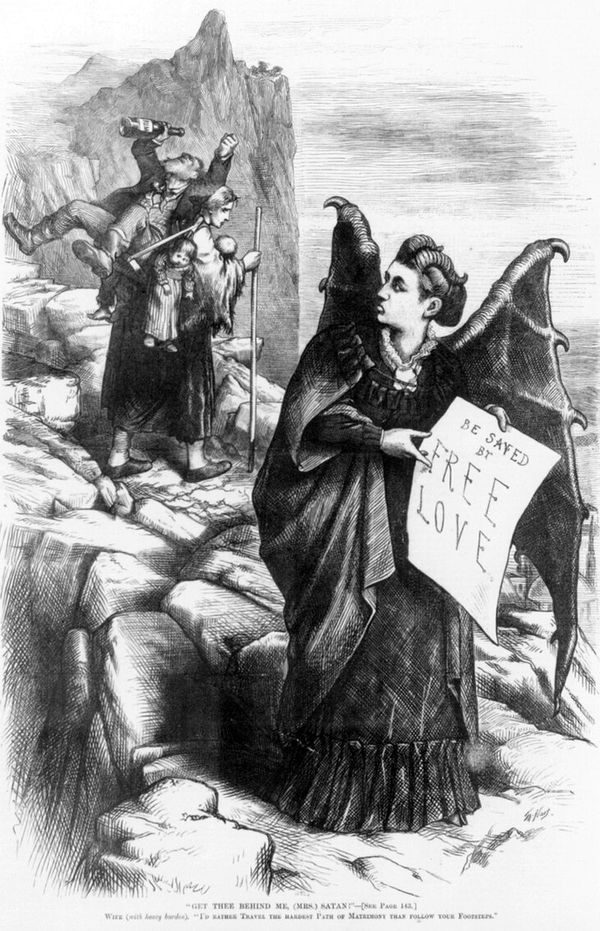 "Thomas Nast's ""Mrs. Satan"" cartoon"