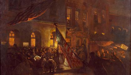 The Only Eyewitness Painting of Lincoln's Assassination Is Finally Being Restored