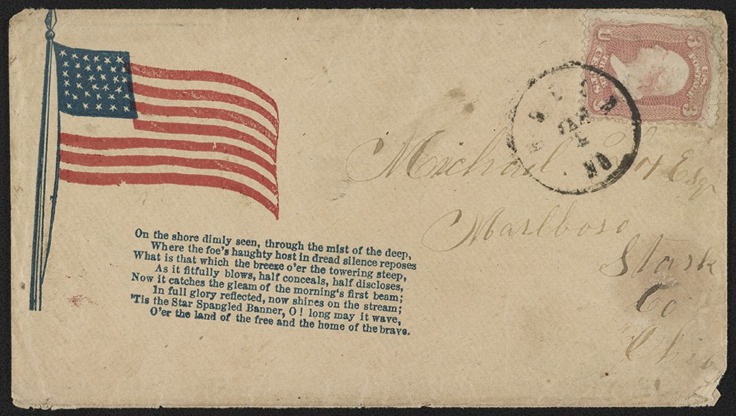 civil war envelopes featuring the star spangled banner history
