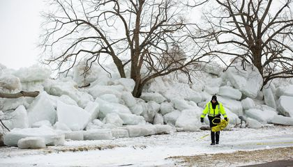 Furious Winds Lead to 'Ice Tsunamis' Along Lake Erie