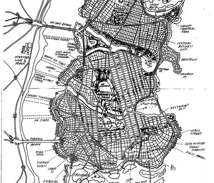 Map Of Gotham City The Cartographer Who Mapped Out Gotham City | Arts & Culture