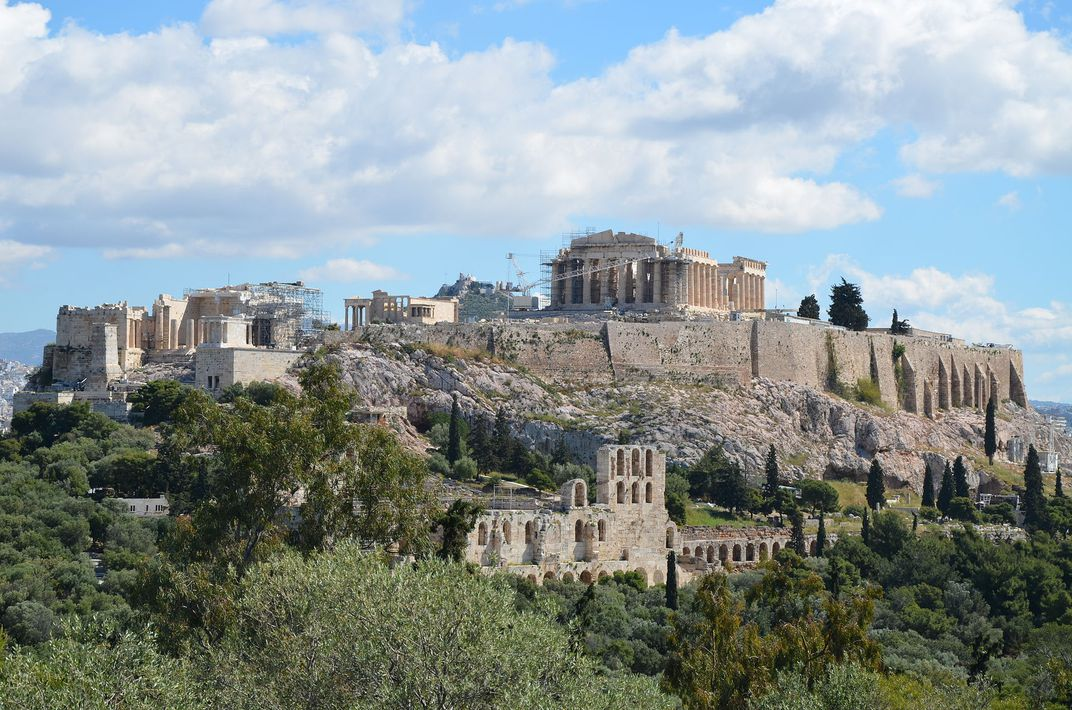 View of Acropolis of Athens