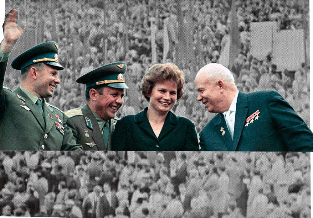Tereshkova With Khrushchev
