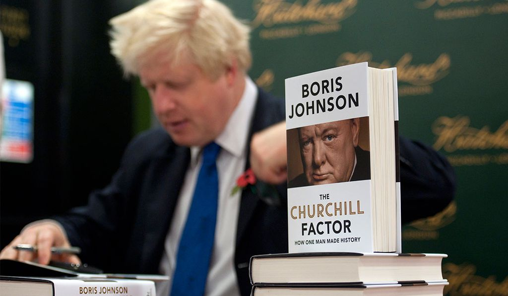 Growing up, Johnson would hear his parents quoting Winston Churchill around the house.
