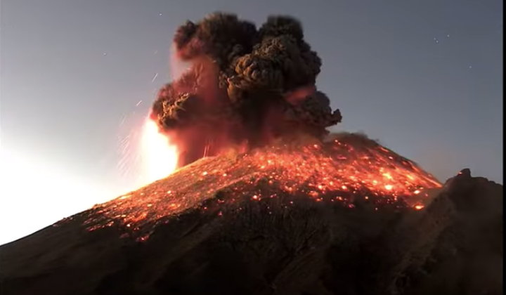 One of Mexico's Most Active Volcanoes Erupts