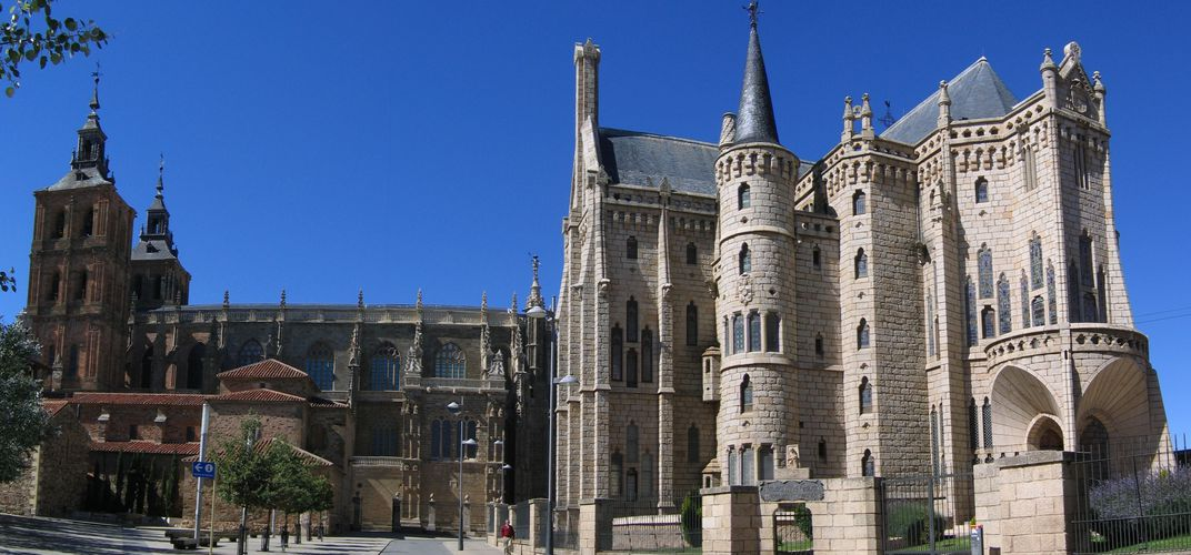 The cathedral and Bishop's Palace at Astorga. Credit: Dietmar Giljohann