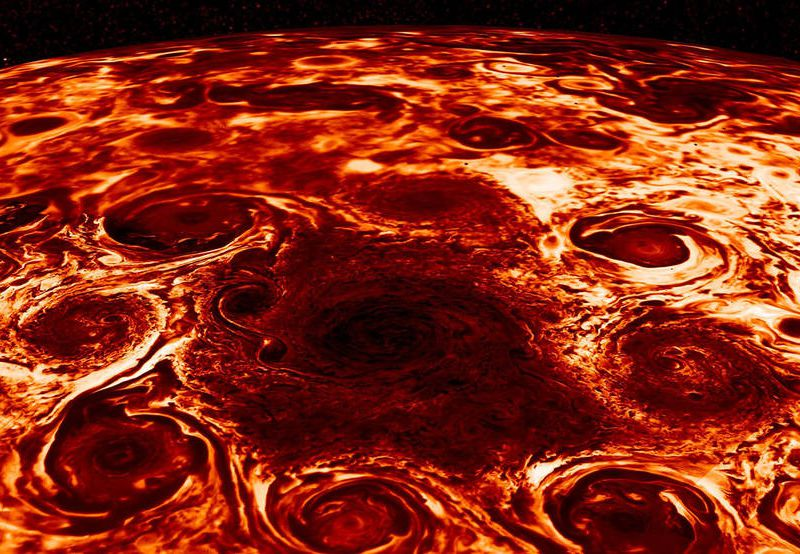 NASA's Juno finds Jupiter's poles are ridden with cyclones