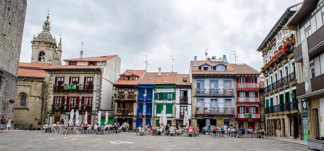 Square in Hondarribia