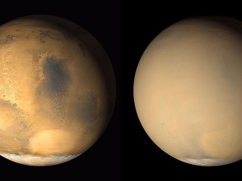 Mars storms