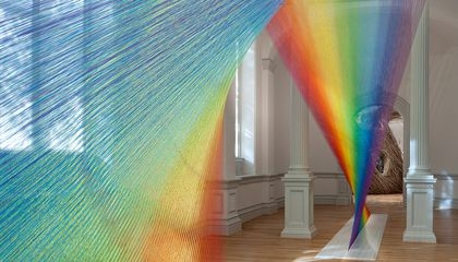 Artist Gabriel Dawe Made a Rainbow Out of 60 Miles of Thread