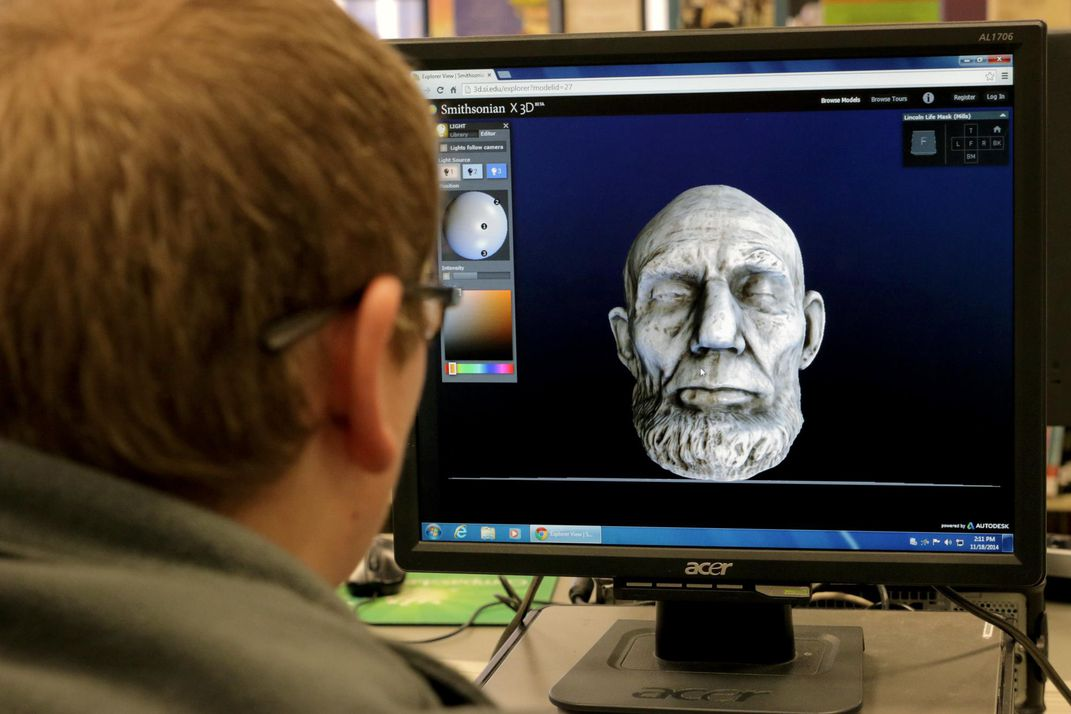 Lincoln life mask 3-D model