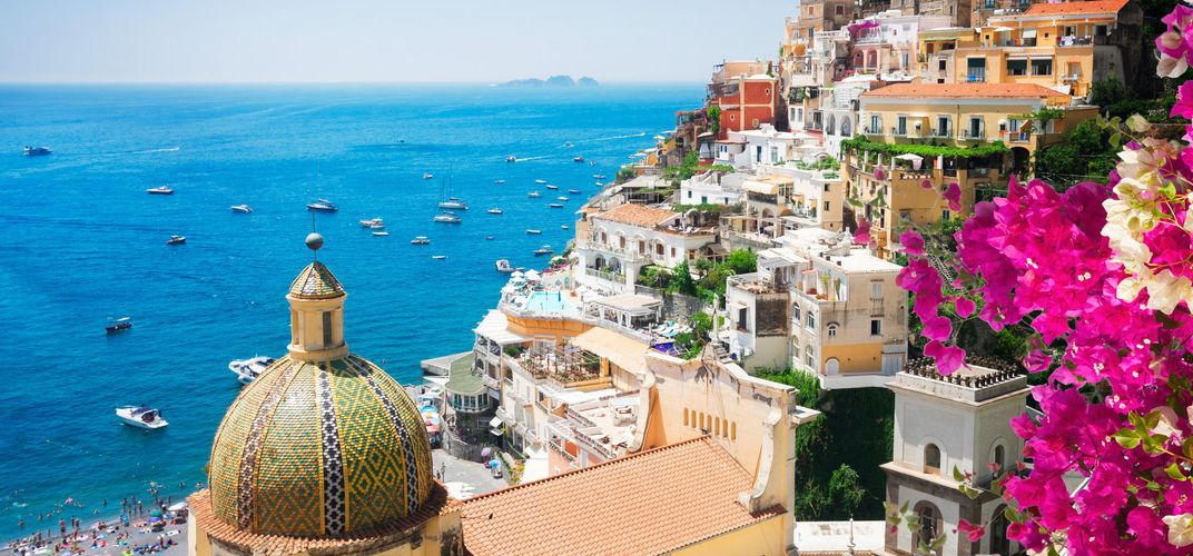 Positano, along the Amalfi Coast