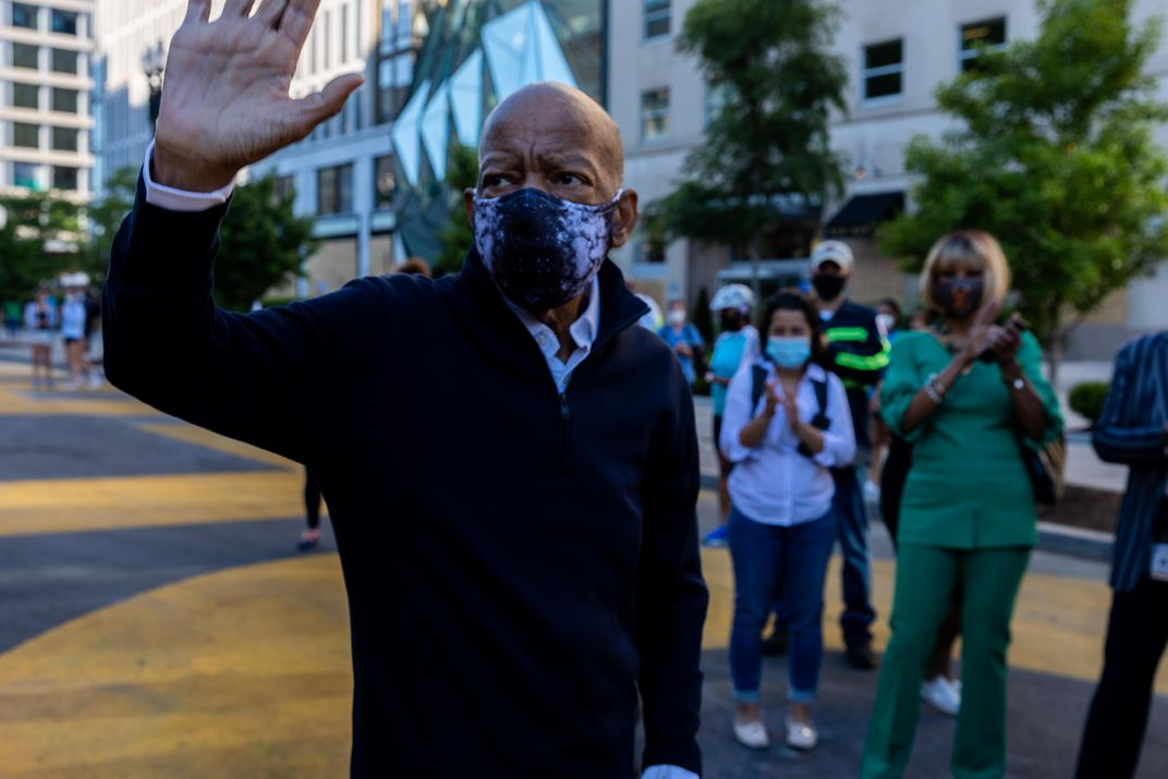 John Lewis at Black Lives Matter Plaza