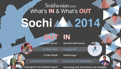 Sochi 2014: What's In & What's Out