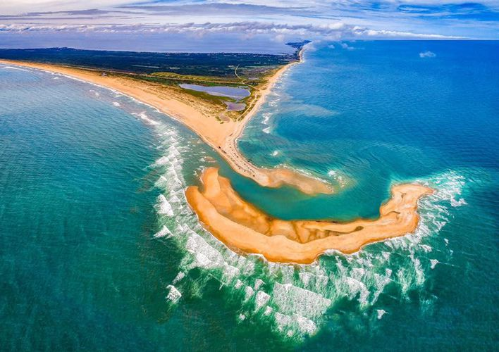Caption: New Island Forms Off the Coast of North Carolina