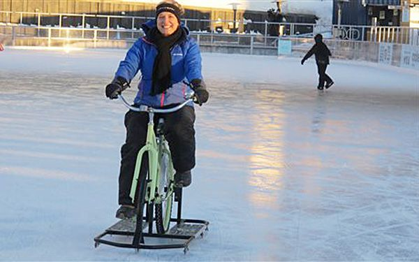 Winter hasn't stopped riders of ice bikes