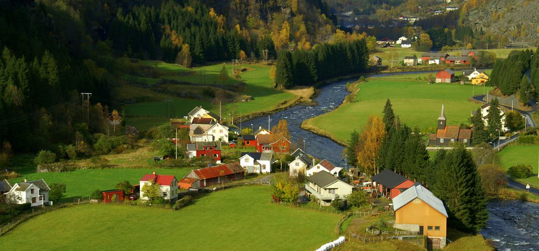 Norway's beautiful Flam Valley