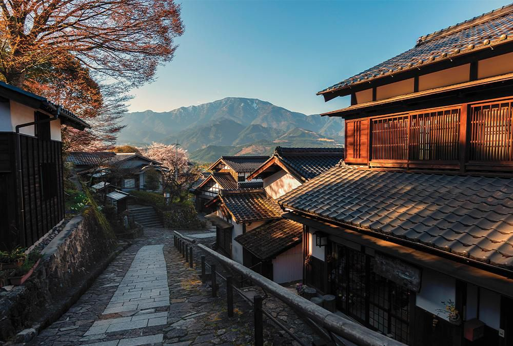 The historic village of Magome, Japan.