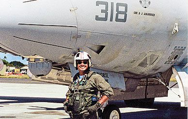 The author with his anti-sub Lockheed Orion