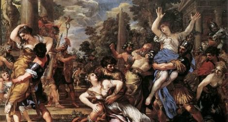 """The Rape of the Sabine Women,"" Pietro da Cortnoa"