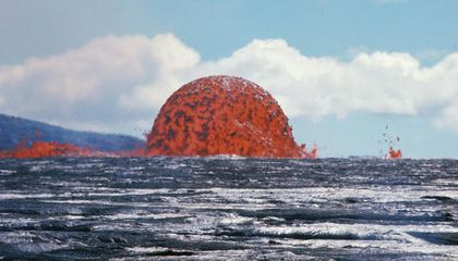 USGS Shares Archival Photo of Rare Domed Lava Fountain