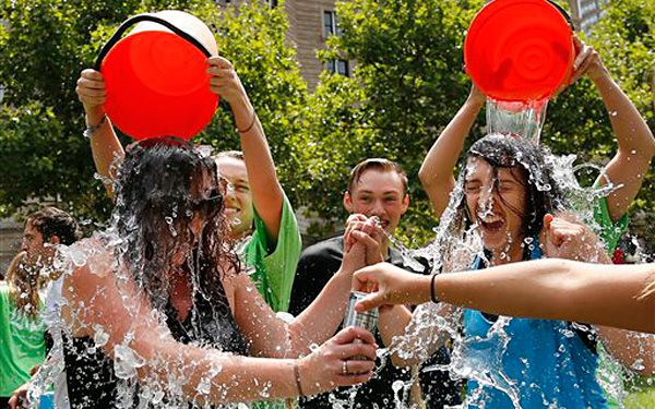 Would you take an icy-cold shower for a good cause?