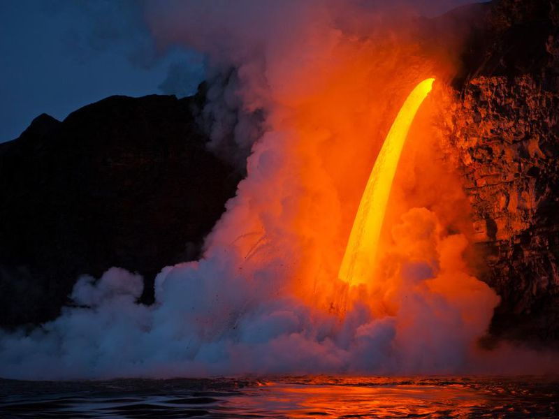 Kilauea at sunrise