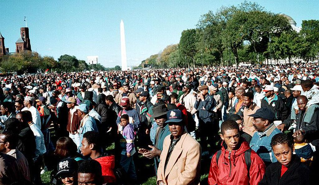 Million man march, Washington DC, 1995