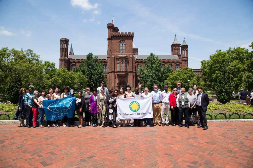 FAC 2016 participants and teachers in front of the Smithsonian Castle after the Opening Ceremony. (Michael Barnes, Smithsonian)