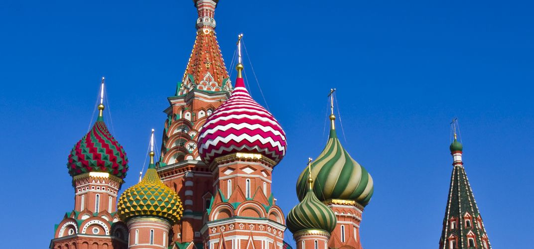 Onion domes of St. Basil's Cathedral, Moscow