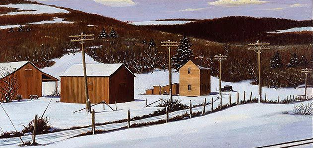 Arthur E Cederquist Old Pennsylvania Farm in Winter