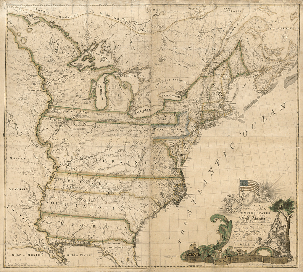 Real Map Of The United States.The First Map Of America Drawn In 1784 History Smithsonian