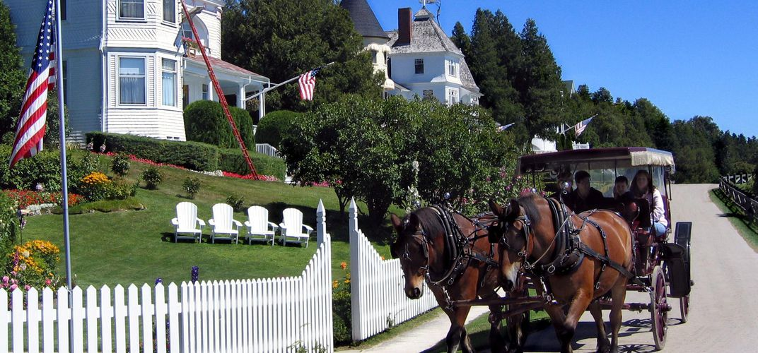 Horse-drawn transportation on Mackinac Island