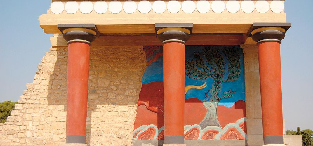 The Palace of Knossos on the island of Crete. Credit: Gloria Baxevanis