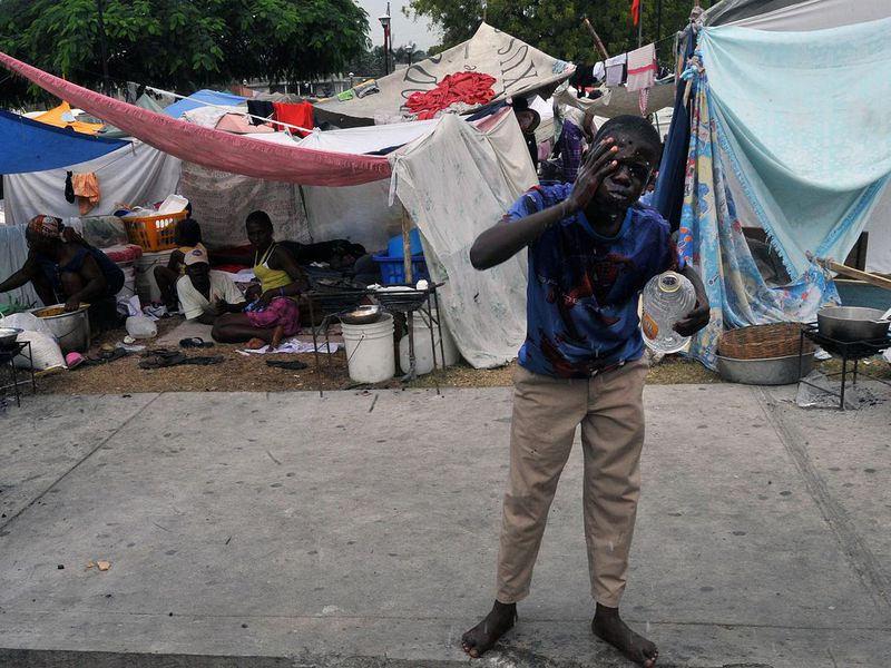 Having lost their homes, many Haitians now live in precarious camps