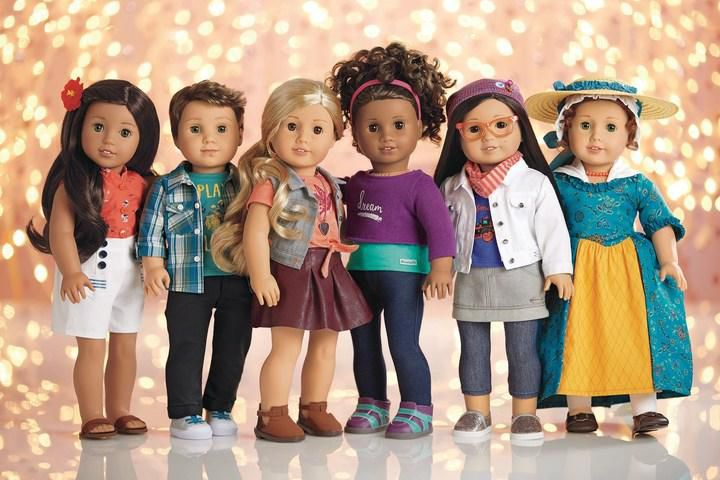 logan second from right is the first ever boy american girl doll american girlprnewswire - Ameeican Girl Doll