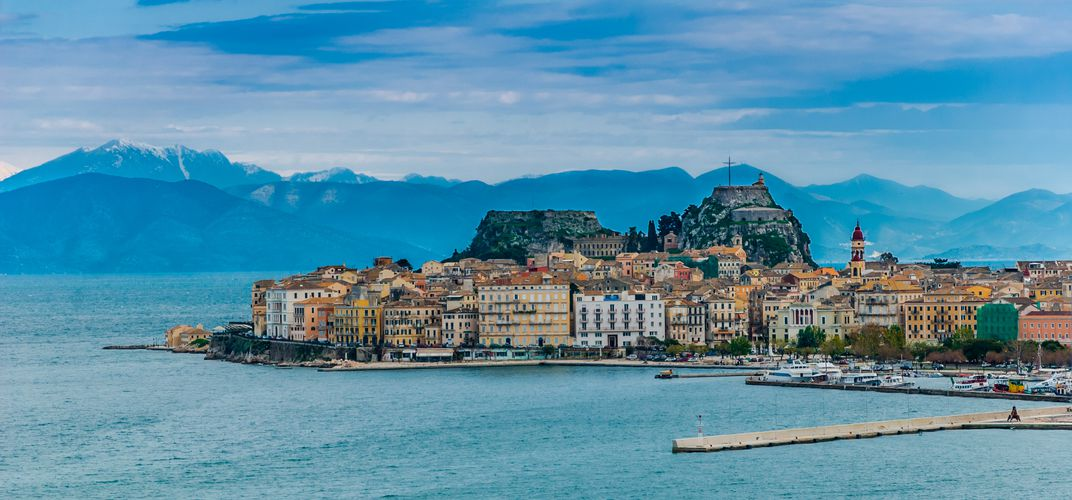 The island of Corfu
