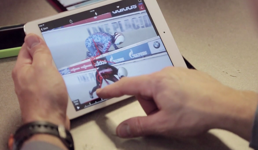 U.S. bobsled and skeleton coaches have been using the Ubersense app, including this side-by-side video analysis feature.