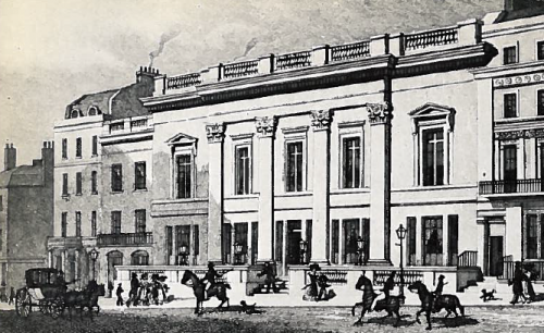 The exterior of Crockford's opulent new gambling club, opened amid great excitement in 1828.