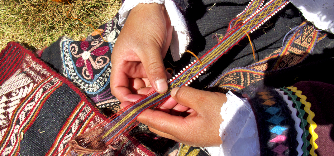 Weaving is a time-honored tradition in Peru