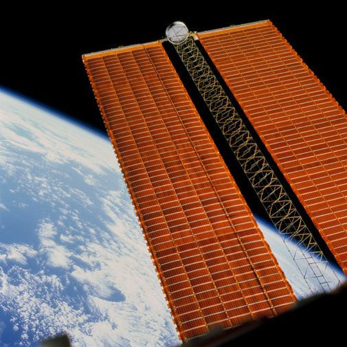 The space station gets a new set of solar arrays.