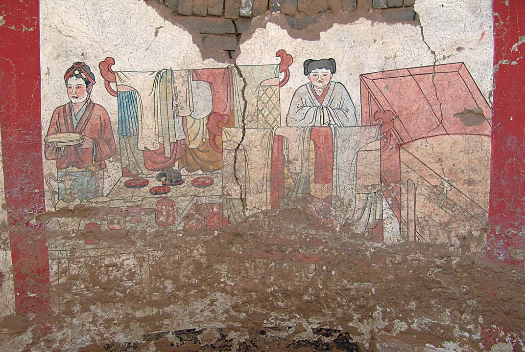 chinese mural painting murals paint colorful picture of 1000 year 10163