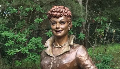 """New Lucy"" Is Unveiled Nearby ""Scary Lucy"" in Lucille Ball's Hometown"