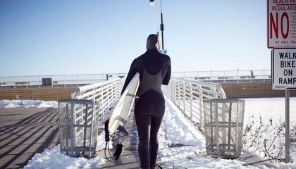 For New England's Snow Surfers, Surf's Up Even When Temps Are Down