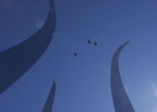 The new Air Force Memorial opens in Washington D.C.