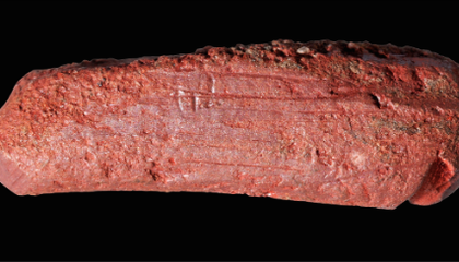 """One of the World's Oldest """"Crayons"""" Colors in Details of the Mesolithic World"""