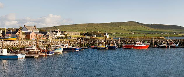 Fishing boats Dingle Harbor Ireland