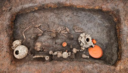 2,000-Year-Old Grave of Child and Puppy Found in France